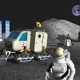 月の本格的な利用 想像図(JAXA提供)