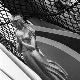新しい日本丸の船首像「藍青(らんじょう)」 撮影:1984年09月18日 写真提供:時事通信社