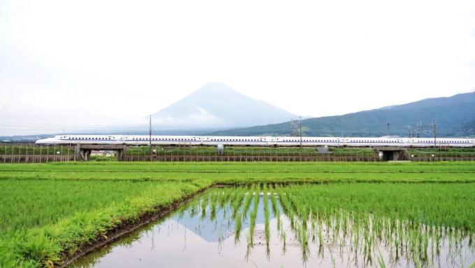 N700A新幹線電車「こだま」、東海道新幹線・三島~新富士間