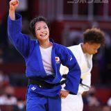 【東京五輪2020 柔道】柔道52kg級 決勝 金メダルを勝ち取った阿部詩=2021年7月25日、日本武道館 写真提供:産経新聞社