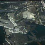 船外活動に臨む野口聡一さん(3月5日 NASAテレビから)