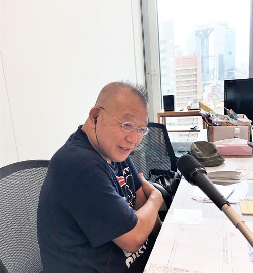 関西支社スタジオの笑福亭鶴瓶