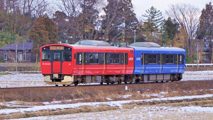 EV-E801系電車・普通列車、男鹿線・脇本~羽立間