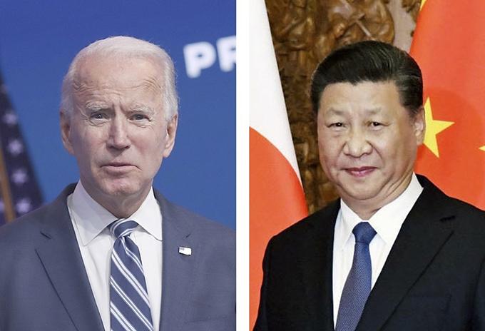 バイデン米大統領(ゲッティ=共同)、中国の習近平国家主席 写真提供:共同通信社
