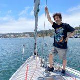 太平洋往路航海中の辛坊治郎