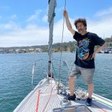 太平洋復路航海中の辛坊治郎