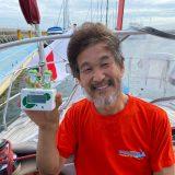 日本到着後、船で一泊したあとの朝の辛坊治郎