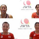 車いすテニス女子日本代表選手のオンライン会見