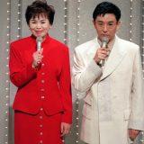 上沼恵美子、古舘伊知郎 紅白司会 1995年12月31日 写真提供:共同通信社