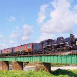 C57形蒸気機関車+12系客車・快速「SLばんえつ物語」、磐越西線・五泉~猿和田間