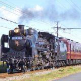 C58形蒸気機関車+12系客車「SLパレオエクスプレス」、秩父鉄道・武川~永田間