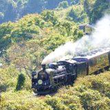 C57形蒸気機関車+12系客車・快速「SLばんえつ物語」、磐越西線・尾登~荻野間